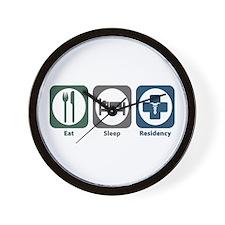 Eat Sleep Residency Wall Clock