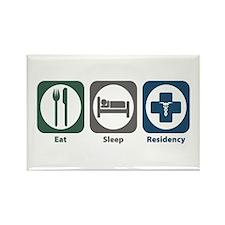 Eat Sleep Residency Rectangle Magnet