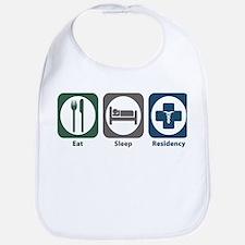 Eat Sleep Residency Bib