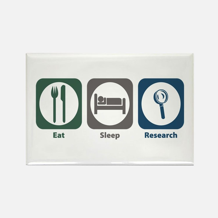 Eat Sleep Research Rectangle Magnet (10 pack)
