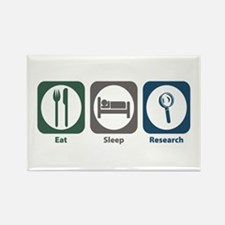 Eat Sleep Research Rectangle Magnet