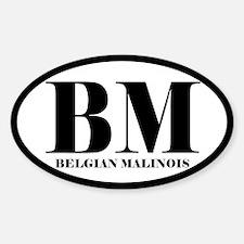 BM Abbreviation Belgian Malinois Decal