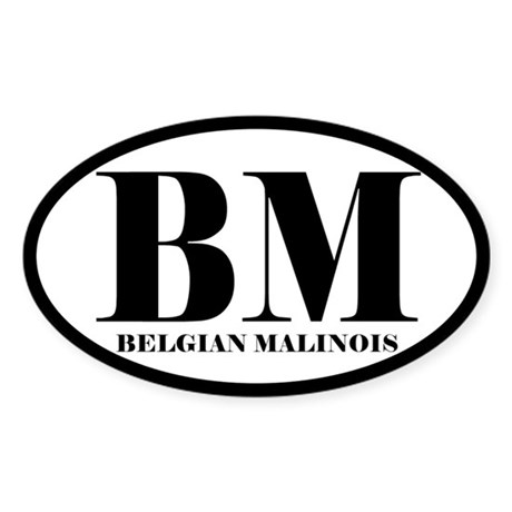 BM Abbreviation Belgian Malinois Sticker