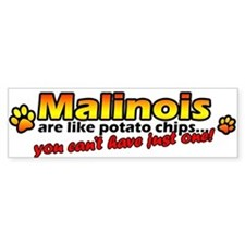 Potato Chips Malinois Bumper Bumper Sticker