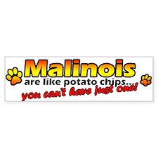 Potato Chips Malinois Bumper Bumper Sticker
