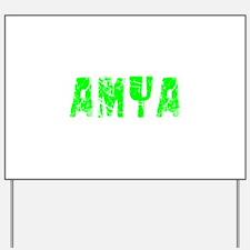 Amya Faded (Green) Yard Sign