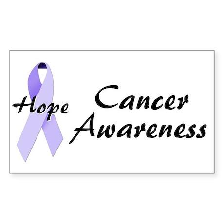 Cancer Awareness Rectangle Sticker