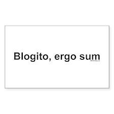 Blogito, ergo, sum (one line) - Sticker (Rectangu