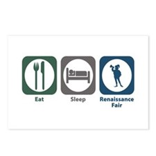 Eat Sleep Renaissance Fair Postcards (Package of 8