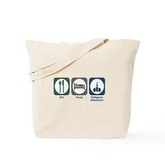 Eat Sleep Religious Education Tote Bag