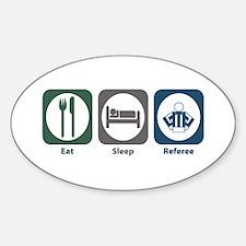 Eat Sleep Referee Oval Decal