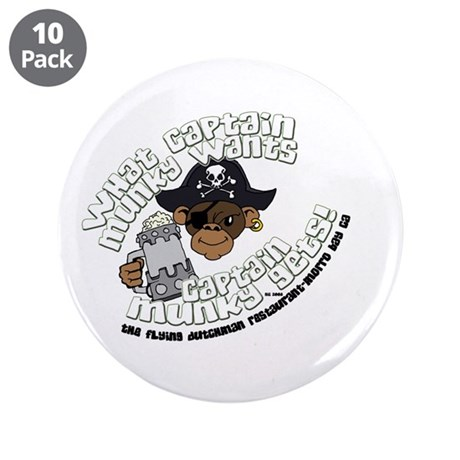 "Captain Munky's 3.5"" Button (10 pack)"