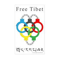 2008 Beijing Olympics Rectangle Sticker