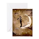 Psychic Wizardry, Man on the Moon Print Greeting C
