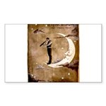 Psychic Wizardry, Man on the Moon Print Sticker