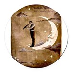 Psychic Wizardry, Man on the Moon Print Round Car