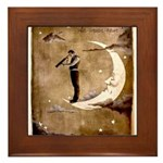 Psychic Wizardry, Man on the Moon Print Framed Til