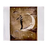 Psychic Wizardry, Man on the Moon Print Throw Blan