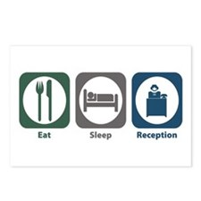 Eat Sleep Reception Postcards (Package of 8)