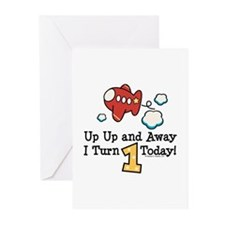 1st Birthday Airplane Greeting Cards (Pk of 20)