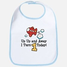 1st Birthday Airplane Bib