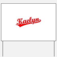 Retro Kaelyn (Red) Yard Sign