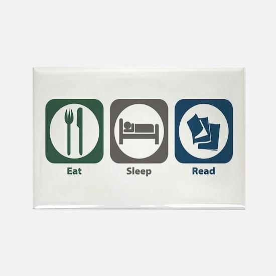 Eat Sleep Read Rectangle Magnet