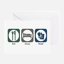 Eat Sleep Read Greeting Card
