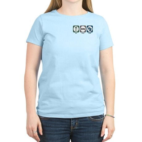 Eat Sleep Read Women's Light T-Shirt