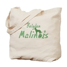 Pastel Green Malinois Tote Bag