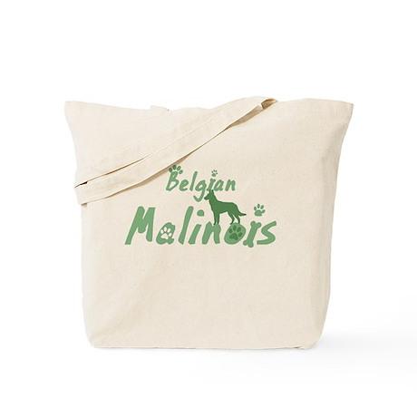 Pastel Green Malinois Tote Bag