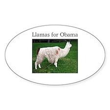 Llamas for Obama Oval Sticker (50 pk)
