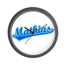 Retro Mathias (Blue) Wall Clock