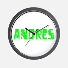Andres Faded (Green) Wall Clock