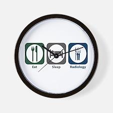 Eat Sleep Radiology Wall Clock