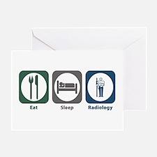Eat Sleep Radiology Greeting Card
