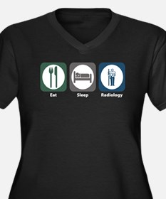 Eat Sleep Radiology Women's Plus Size V-Neck Dark