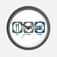 Eat Sleep Radio Wall Clock