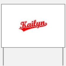 Retro Kailyn (Red) Yard Sign
