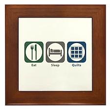 Eat Sleep Quilts Framed Tile