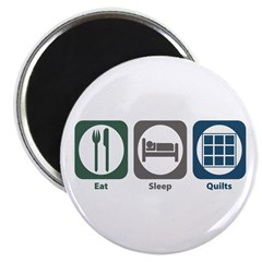 """Eat Sleep Quilts 2.25"""" Magnet (10 pack)"""