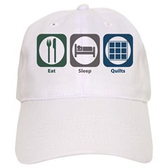Eat Sleep Quilts Baseball Cap