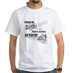 Proud Dad of an Autistic Son White T-Shirt