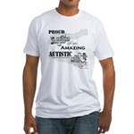 Proud Dad of an Autistic Son Fitted T-Shirt