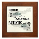 Proud Dad of an Autistic Son Framed Tile