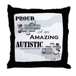Proud Dad of an Autistic Son Throw Pillow