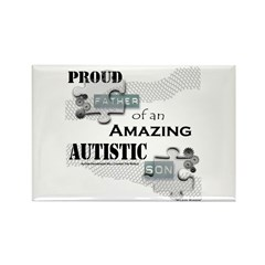 Proud Dad of an Autistic Son Rectangle Magnet (10