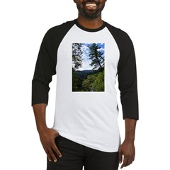 Eel River from the cliff Baseball Jersey