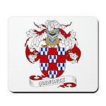 Quinones Family Crest Mousepad