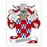 Quinones Family Crest Small Poster